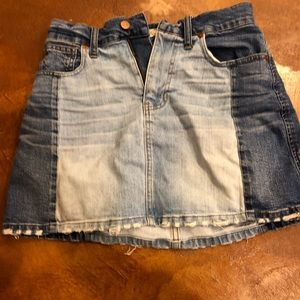 Madewell two tone denim skirt